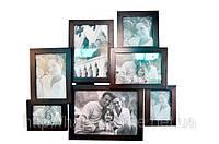 Подарок семье - фоторамка семейная на 7 фото (дерево)