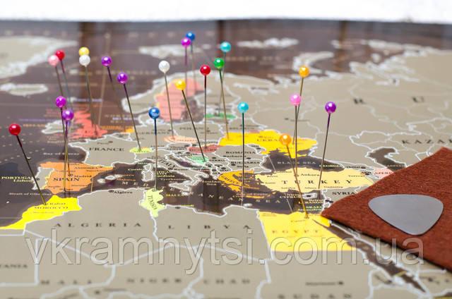 Скретч карта світу My Map Chocolate edition ENG в тубусі