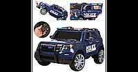 Электромобиль Джип для детей M 3259 EBLR-4 Police черный синий BI