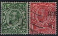 Марки Великобритании 1912 год