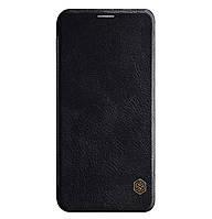 Кожаный чехол-книжка Nillkin Qin Series для Samsung Galaxy J6 (2018) SM-J600F Black