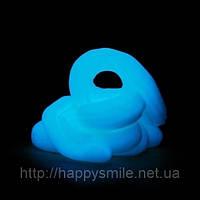 Handgum Голубой – оригинальный подарок, тренажер для рук, полезный подарок. Светится в темноте - 50 г