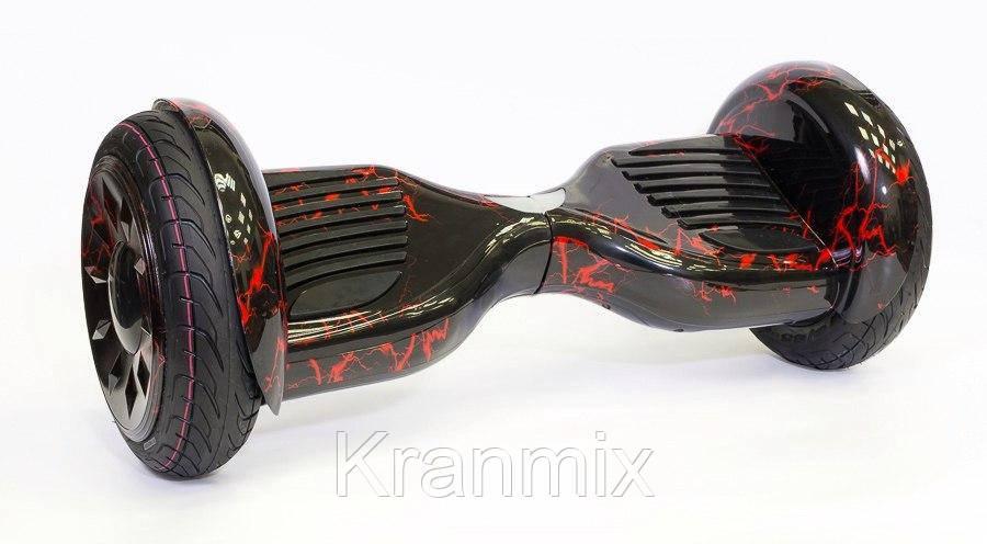 Гироборд Smart Balance 10,5 дюймов цвет Черный с Красными Молниями