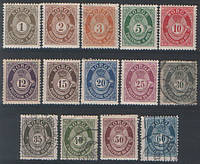 Полный выпуск почтовых марок Норвегии 1909 - 1920 г.г