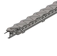 Профили деформационных швов,  синус-бета профиль 165 мм.