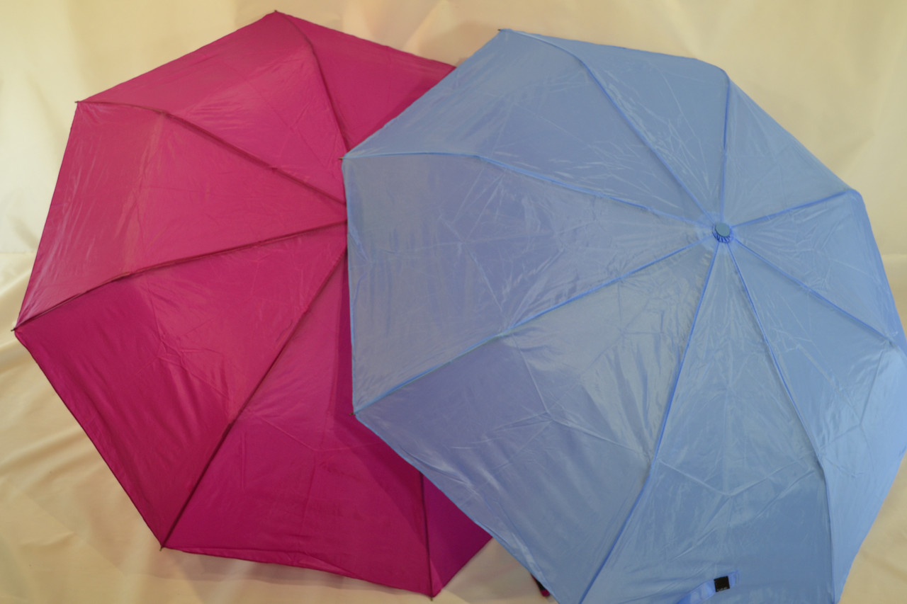 "Женский зонт полуавтомат однотонка ""Feeling Rain"" на 8 спиц"