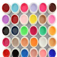 Цветные гели для нейл-арта, художественной росписи на ногтях, яркие насыщенные цвета, френч-маникюр, 36 шт.