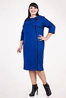 Красивое женское платье украшено брошью электрик, фото 1
