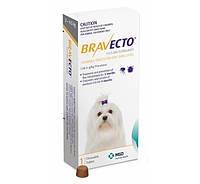 BRAVECTO БРАВЕКТО таблетки от блох и клещей для собак весом от 2 до 4,5 кг