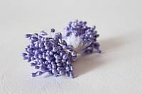 Тычинки двусторонние 25 шт (50 головок) на нити перламутровые сиреневого,светло-фиолетового цвета, фото 1