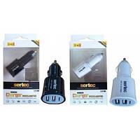 АЗУ для телефонов и планшетов SERTEC на 2 USB ( BLACK)