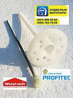 Дюбель для минеральной ваты с металлическим стержнем и термоголовкой 10х200 мм. Вкрет-Мет (Польша), фото 1