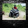 Постер Квадроцикл, четырёхколёсный мотовездеход, мотовездеход, мотокросс, суперкросс, эндуро, quad bike (60x84см)
