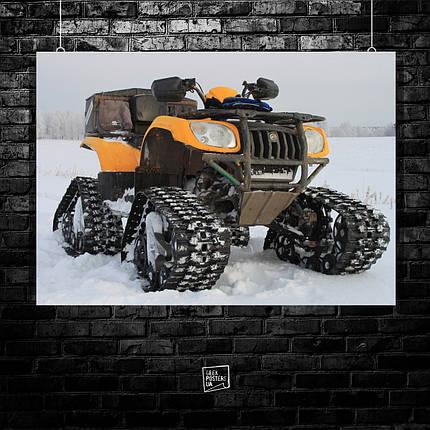 Постер Квадроцикл, четырёхколёсный мотовездеход, мотовездеход, мотокросс, суперкросс, эндуро, quad bike. Размер 60x42см (A2). Глянцевая бумага, фото 2