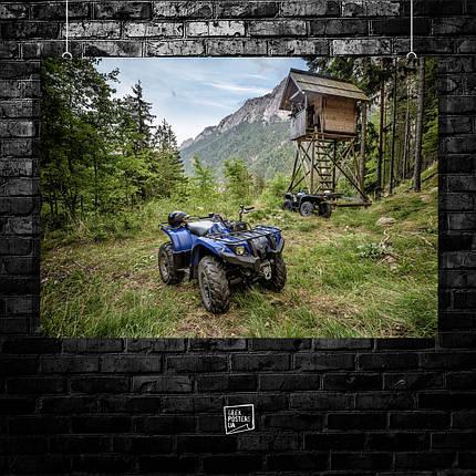Постер Квадроцикл, четырёхколёсный мотовездеход, мотовездеход, мотокросс, суперкросс, эндуро, quad bike (60x85см), фото 2