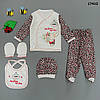 """Набор для на выписку """"Кролик"""" для девочки, 5 предметов. В коробке. 0-3 мес"""