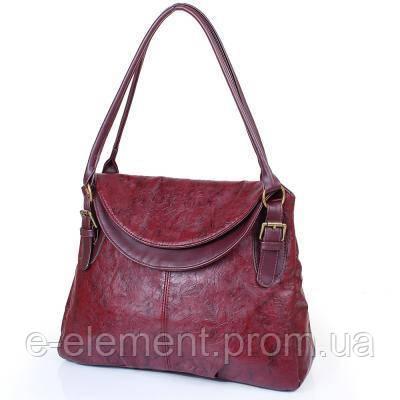 Саквояж (ридикюль) Laskara Женская сумка из качественного кожезаменителя  LASKARA (ЛАСКАРА) LK10188-wine bb4a1cf08a7cb