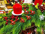Новогодний декор лошадка качалка, рождественский декор 6 шт., фото 6