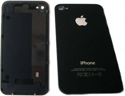 Задняя крышка IPhone 4G чёрная ААА стекло, фото 2