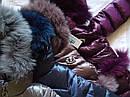 Модный зимний пуховик на девочку Сабрина с натуральным мехом Размеры 122- 164, фото 8