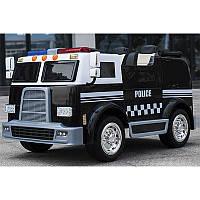 Детский двухместный электромобиль M 3828 EBLR-2 Полиция: 4 мотора, 12V 10A, EVA-колеса, Черный-купить оптом , фото 1