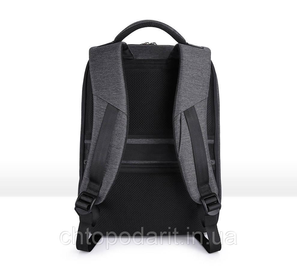 Серый мужской рюкзак для повседневной жизни, прогулки, школы.