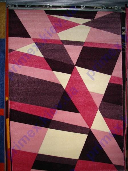 """Килимок для будинку Дайсі """"Асиметрія"""", колір рожевий"""