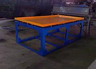 Вибростол для производства тротуарной плитки и заборов 2 м х 1 м (220В), фото 1