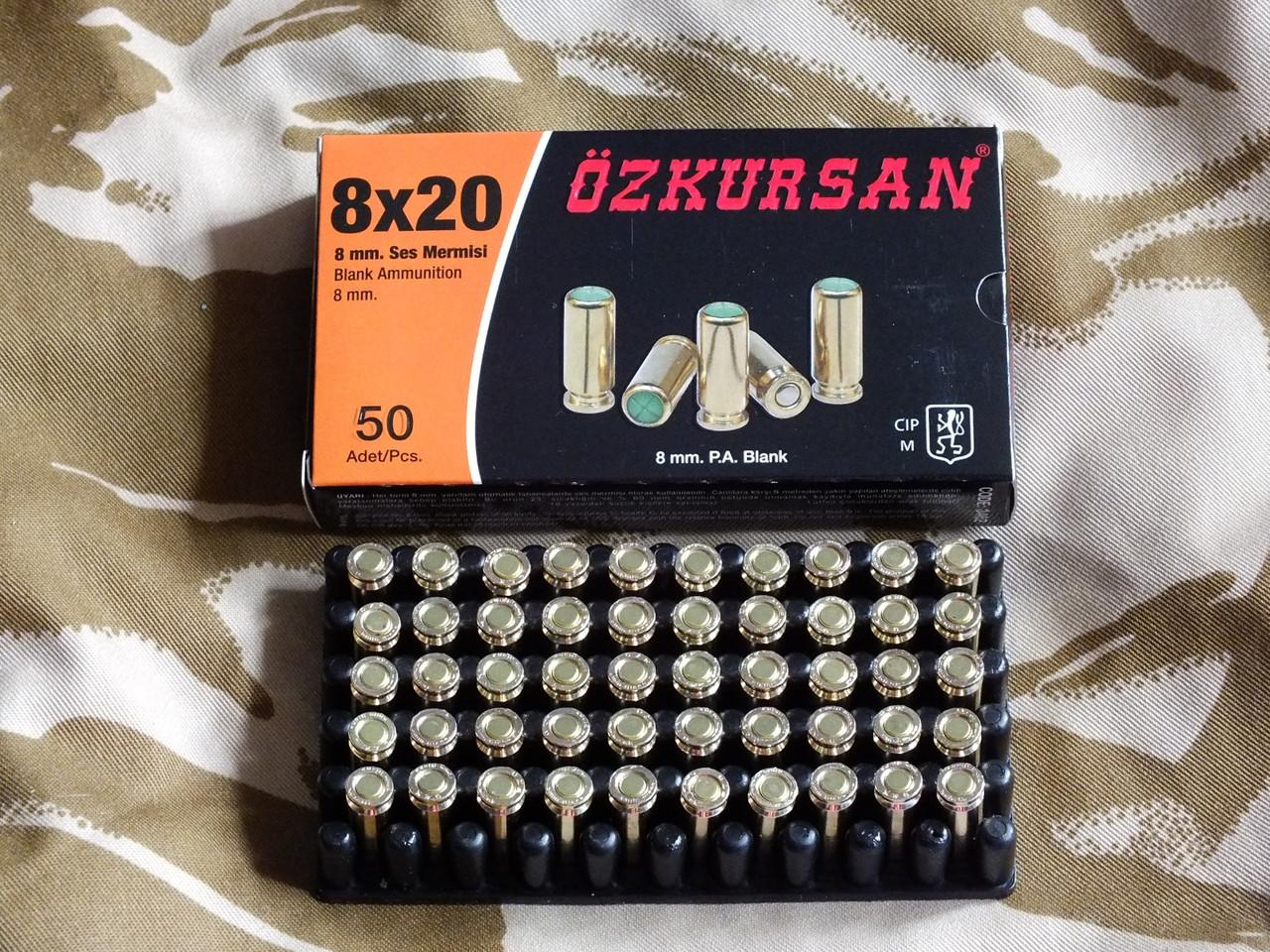 Патрон холостой пистолетный Ozkursan 8 мм, 50 шт