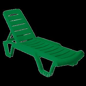 Пластиковый Шезлонг Бриз (зеленый), фото 2