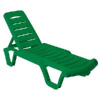 Пластиковый Шезлонг Бриз (зеленый)