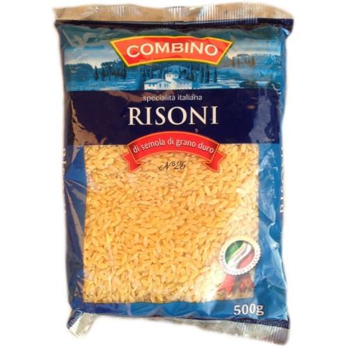 Макароны твердых сортов Combino «Risoni» (итальянские макароны комбино в форме риса), 500 кг.