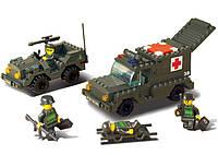 Конструктор Сухопутные войска -   Санитарный автомобиль и джип 229 дет.
