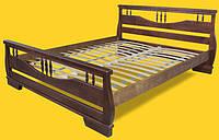 Кровать двоспальная с натурального дерева в спальню ТИС АТЛАНТ 3 160*190 сосна