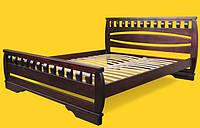 Кровать полуторная с натурального дерева в спальню ТИС АТЛАНТ 4 120*190 сосна