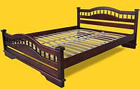 Кровать двоспальная с натурального дерева в спальню ТИС АТЛАНТ 7 160*190 сосна