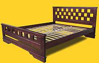 Кровать двоспальная с натурального дерева в спальню ТИС АТЛАНТ 9 160*190 сосна