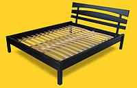 Кровать двоспальная с натурального дерева в спальню ТИС ДОМІНО 3 160*190 сосна