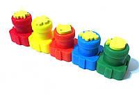 Пальчиковые краски 5 цветов с формочками OL-036