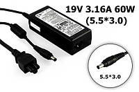 Блок питания для ноутбука SAMSUNG RV520 R510 R530 R719 R540 R580 19V 3.16A 60W ADP60ZH-D AD-6019R