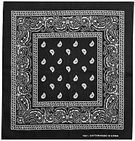Бандана Огірки білі на чорному тлі