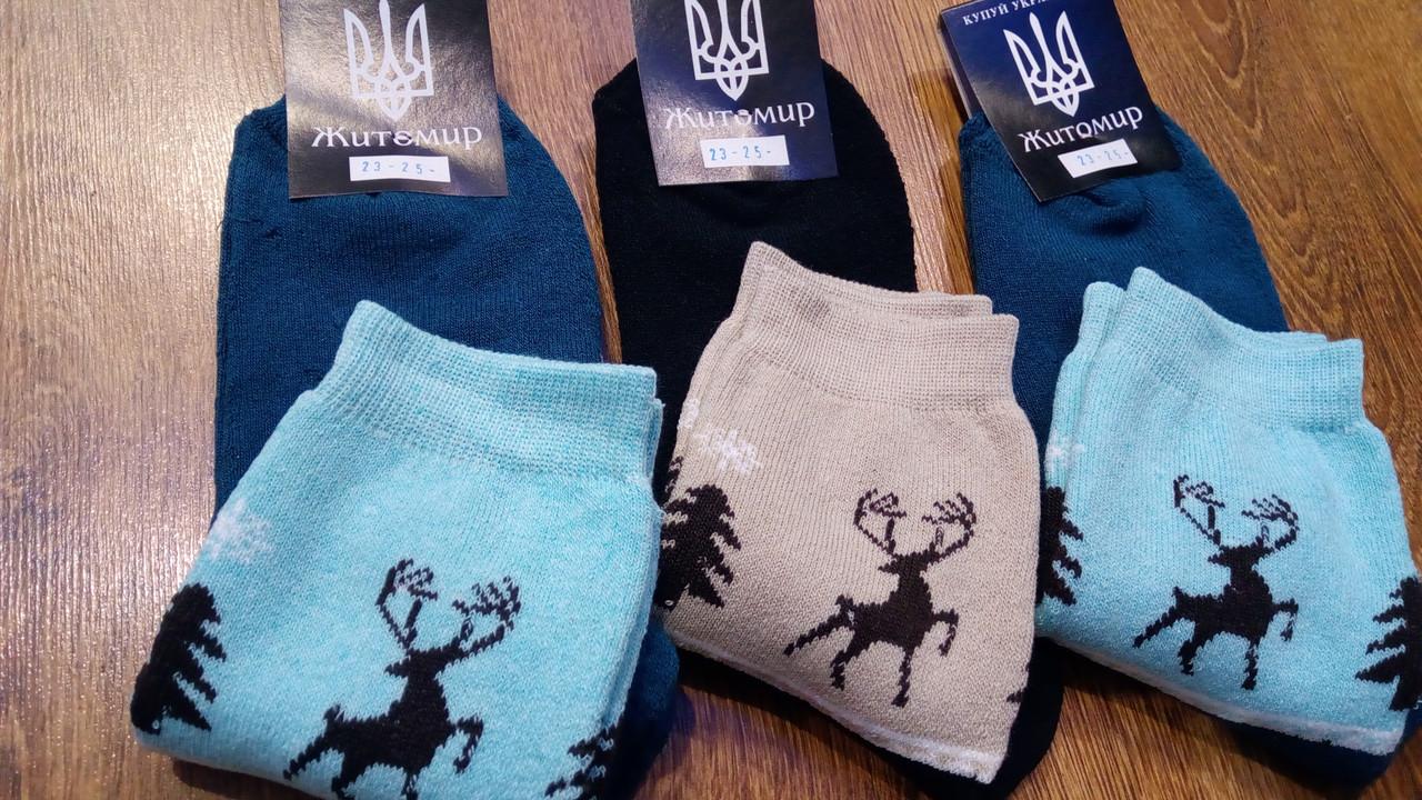 """Шкарпетки жіночі махрові,""""Житомир Missis""""Олені"""