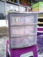 Пластиковый комод мини на 3 ящика производство Турция