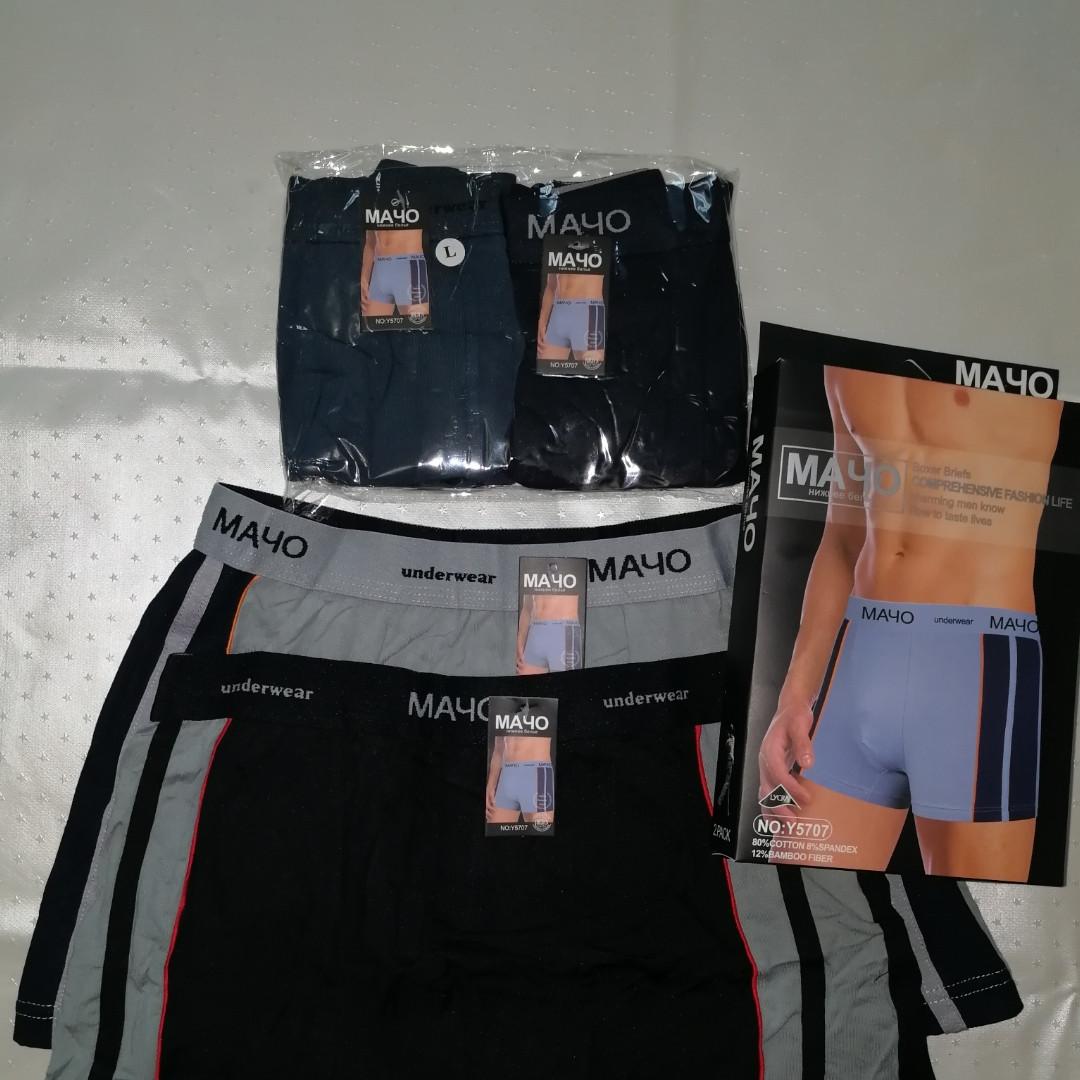 Мужские классические трусы-шорты / боксеры Мачо