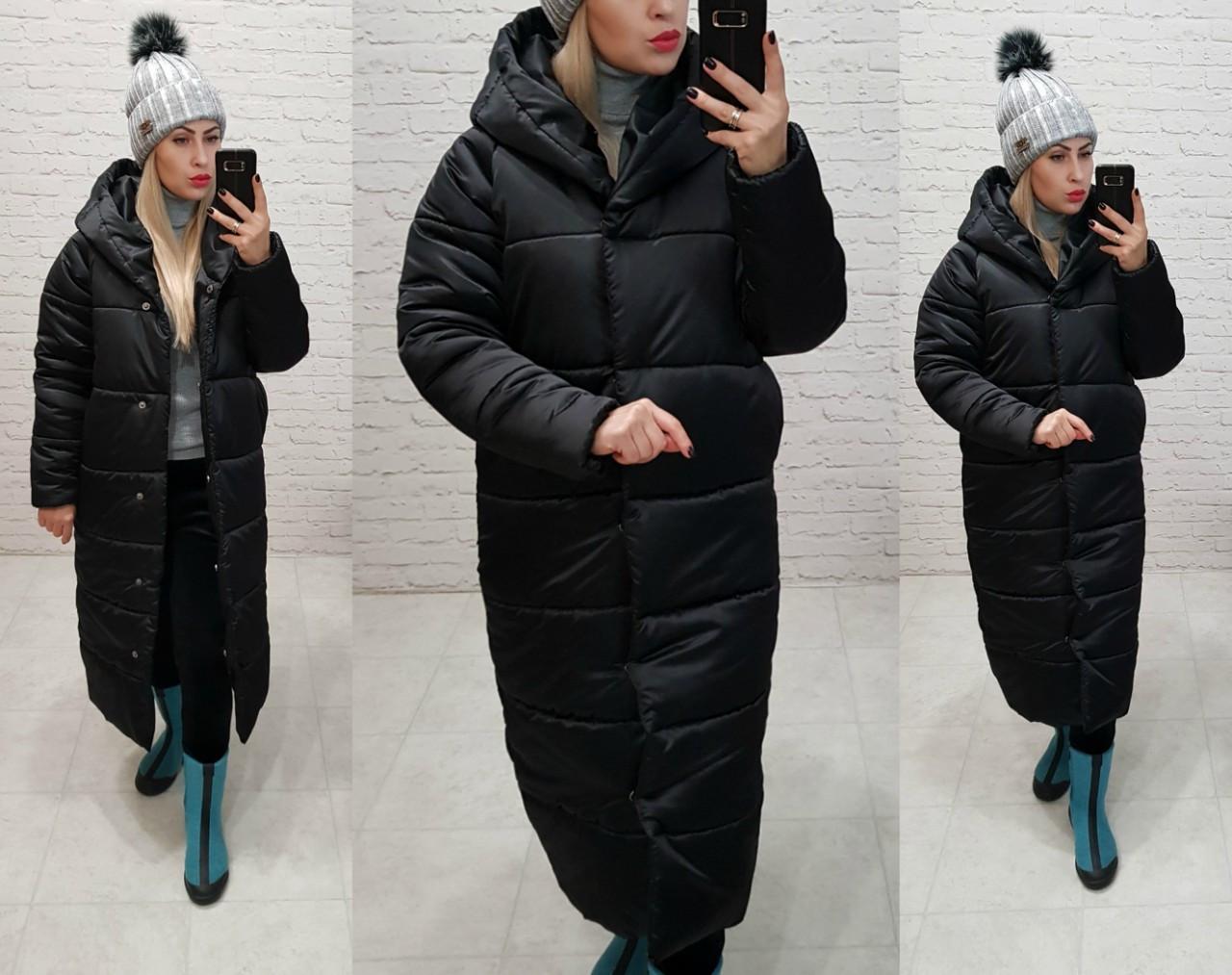 38b0e2a94be Куртка зимняя длинная очень теплая с капюшоном арт. М521 черная - Интернет  магазин женской одежды