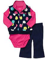 Детский комплект для девочки флис 12 месяцев