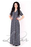 (674) Длинное приталенное платье белая_бабочка 44