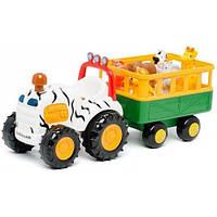Игровой набор Трактор Сафари (свет, звук), Kiddieland 051169