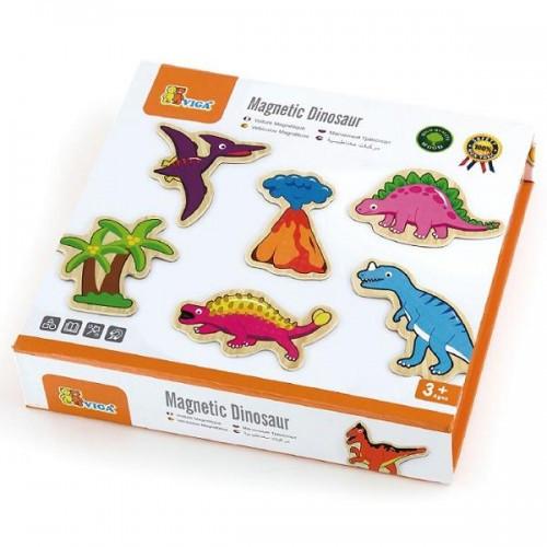 Динозавры, набор магнитных фигурок Viga Toys, 20 шт. (50289)
