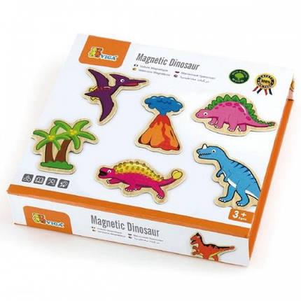Динозавры, набор магнитных фигурок Viga Toys, 20 шт. (50289), фото 2